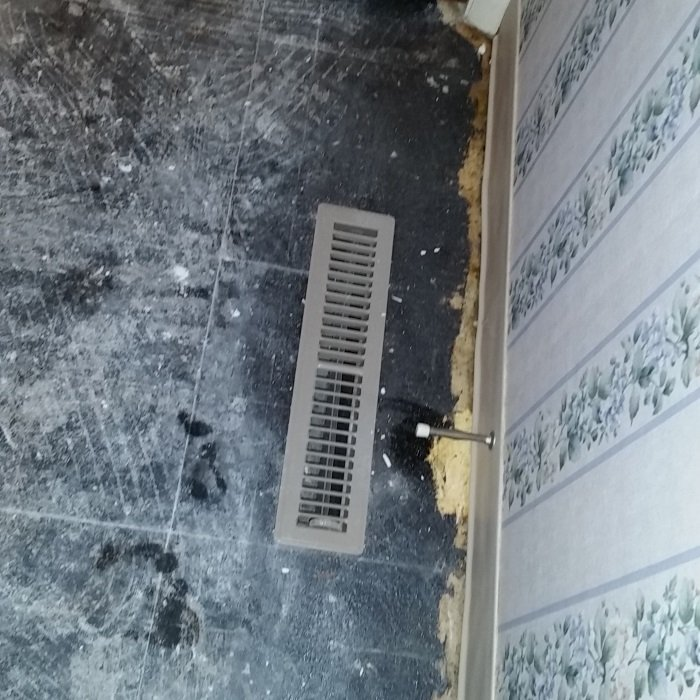 Floor HVAC register.