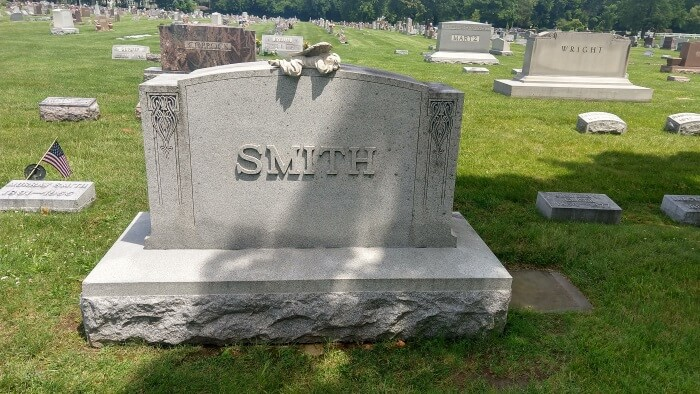 Smith Family Graves at Riverside Cemetery in Troy, Ohio