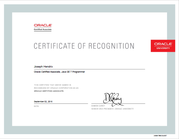 Oracle 1Z0-803 - Java SE 7 Programmer I