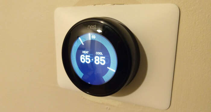 The Nest Learning Thermostat, installed & working.