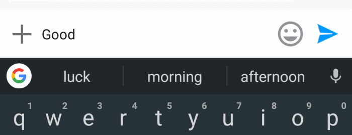 My phone predicting the next word.