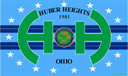 Low-resolution (250px × 149px) JPEG of the flag of Huber Heights, Ohio
