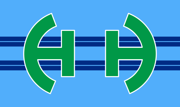 The Flag of Huber Heights, Ohio with the stars removed.