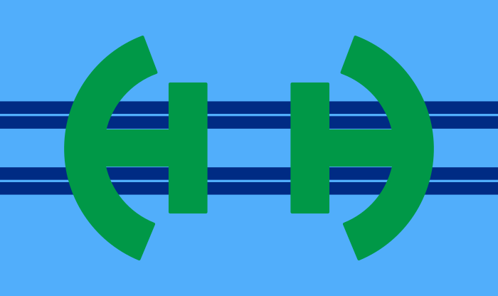 The Flag of Huber Heights, Ohio with no white border around the H's.