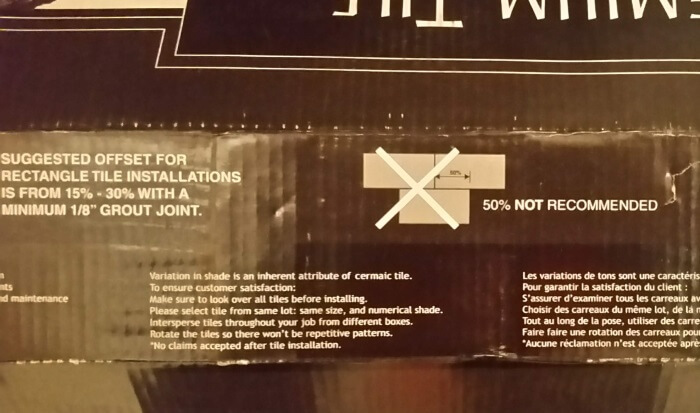 The warning on the box.